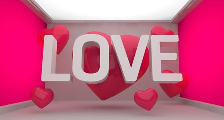Love Pink Background