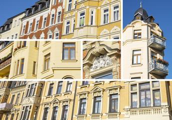 Collage Sanierte Altbauten