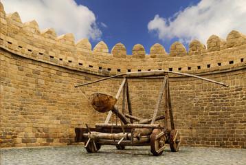 catapult Turkish Mancinik Icheri Sheher Old Town Baku Azerbaijan