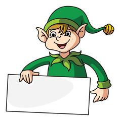 Elf Holding Banner
