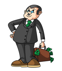 Businessman Money Bag