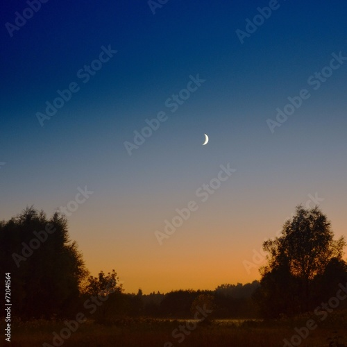 canvas print picture mond am abendhimmel