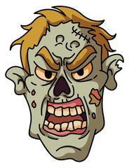 Scary Zombie Head