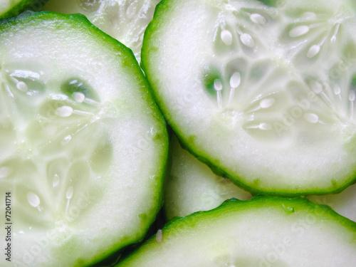Naklejka Cucumber Slice Background