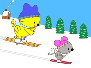 動物たちのスキー