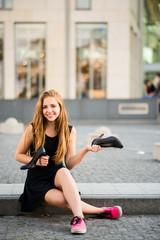 Comfort wins - sneakers versus high heels