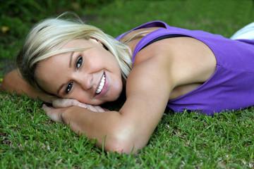 Lovely Reaxing Blonde Girl