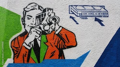 fototapeta na ścianę Człowiek biorąc wideo