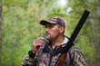 Hunting for a hazel grouse bird