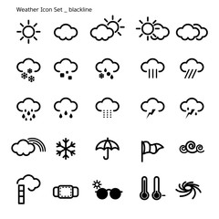 icon set-weather-black line
