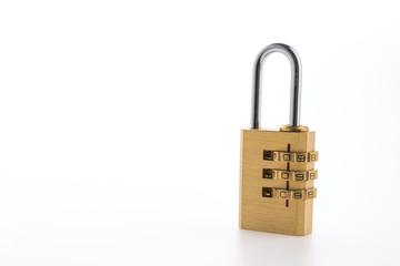 Pad lock isolated