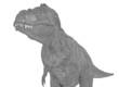 tyrannosaurus casual close up