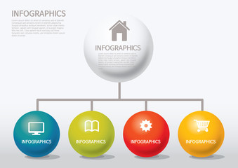 info-graphic - sphere style - chart