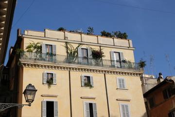 Ein renoviertes haus in Rom