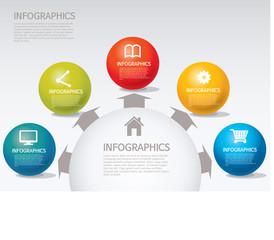 info-graphic - sphere style - spread