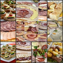 Cold cuts collage