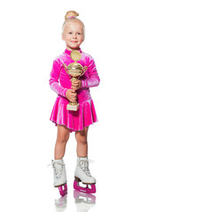 Little girl in skates