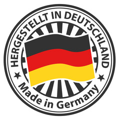 Sign Made in Germany. Hergestellt in Deutschland