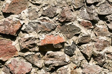 rough rubble wall