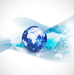 World network communication and technology concept
