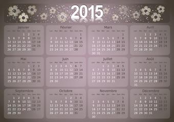 Calendrier 2015 simple - facilement éditable