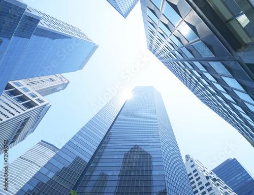 New York City skyscrapers from below, Manhattan - 72046742
