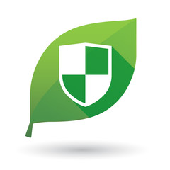 leaf icon with a shield