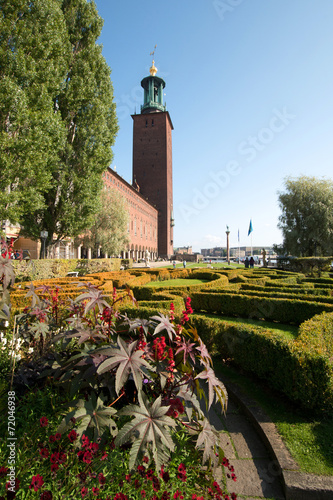 canvas print picture Rathaus- Stockholm Schweden
