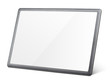 canvas print picture - Modern black tablet pc isolated on white with clipping path