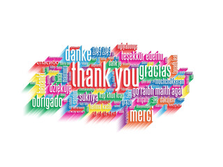 """THANK YOU"" Tag Cloud (card thanks greetings gratitude joy)"