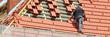 Leinwandbild Motiv dachdecker