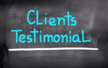 Clients Testimonial Concept