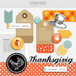 Set of vector autumn fall scrapbooking and web elements