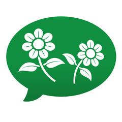 Etiqueta comentario flores