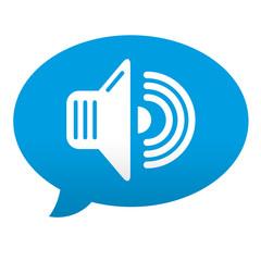 Etiqueta tipo app comentario sonido
