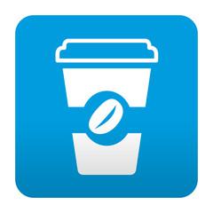 Etiqueta tipo app vaso de cafe