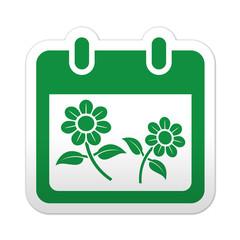 Pegatina simbolo calendario primavera