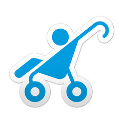 Pegatina simbolo cochecito de bebe