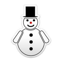 Pegatina simbolo muñeco de nieve