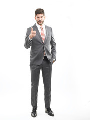 Businessman Giving a Thumbs Up