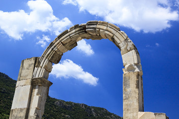 ancient arc in the blue sky Efes Turkey