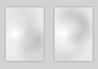 Minimal light grey flyer design
