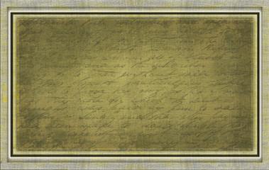 Textiler Hintergrund Alte Schrift