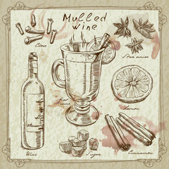 mulled wine design elements