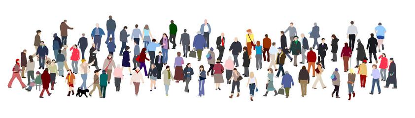large crowd vectors