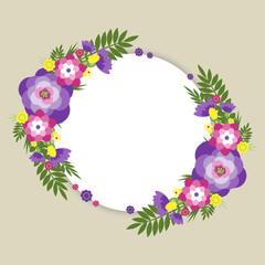 summer flower round
