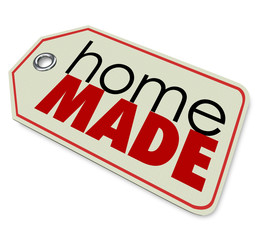 Home Made Words Price Tag Authentic Hand Crafted Products