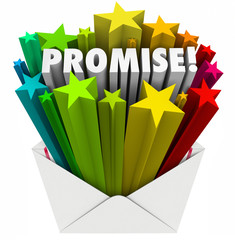 Promise Word Guarantee Oath Vow Pledge Obligation Note in Envelo