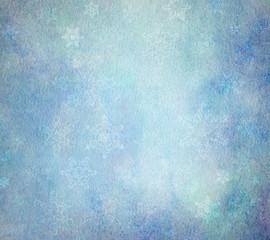 aquarell hellblau schneeflocken