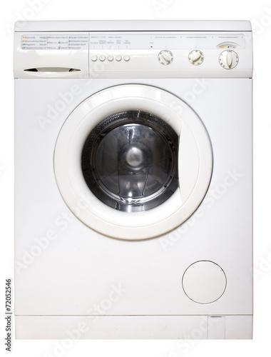 Leinwanddruck Bild Waschmaschine
